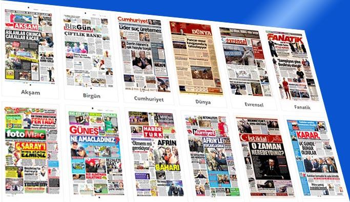 Gazetelerin bugünkü manşetleri 21 Mart 2018