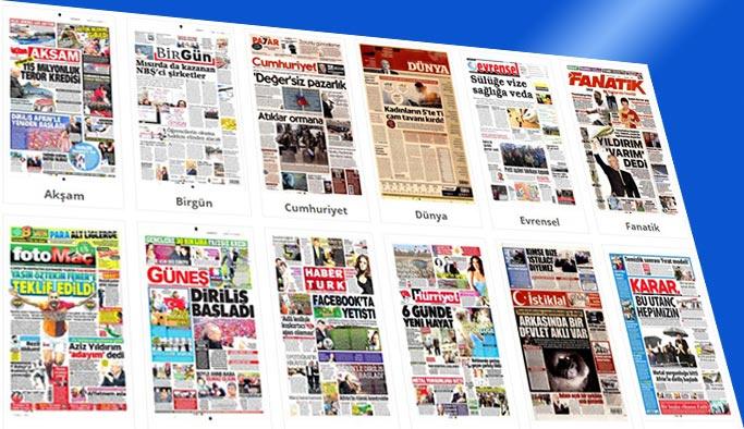 Gazetelerin bugünkü manşetleri 25 Mart 2018