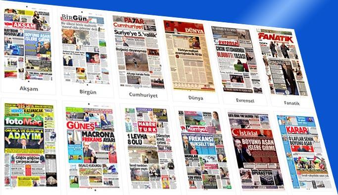 Gazetelerin bugünkü manşetleri 31 Mart 2018