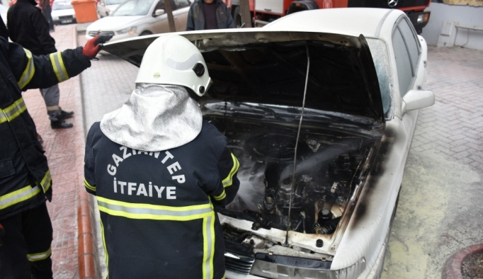 Gaziantep'te araç yangını