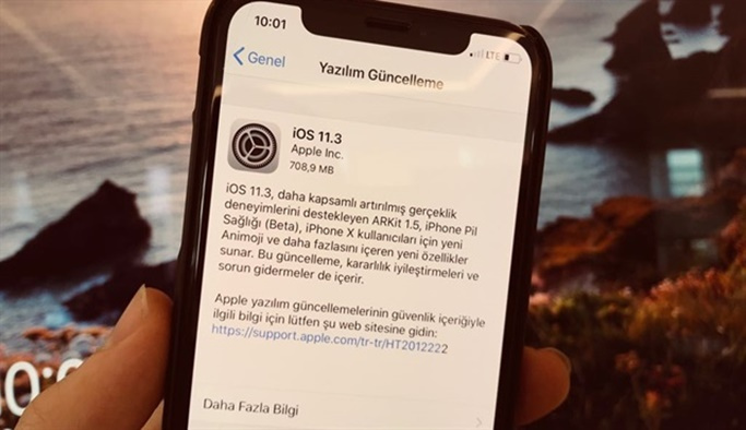 iOS 11.3 güncellemesi yayınlandı