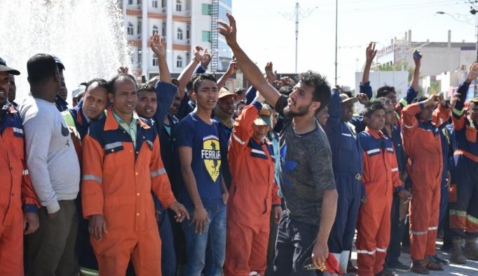 Kerkük'te yabancı temizlik işçilerinden grev kararı