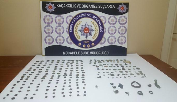 Kırklareli'nde tarihi eser kaçakçılığı operasyonu