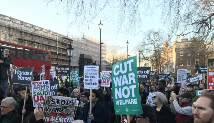 Londra'da Suudi Arabistan Veliaht Prensi Bin Selman'a tepki