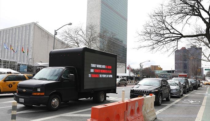 PKK'nın 'yalan kamyoneti' New York sokaklarında