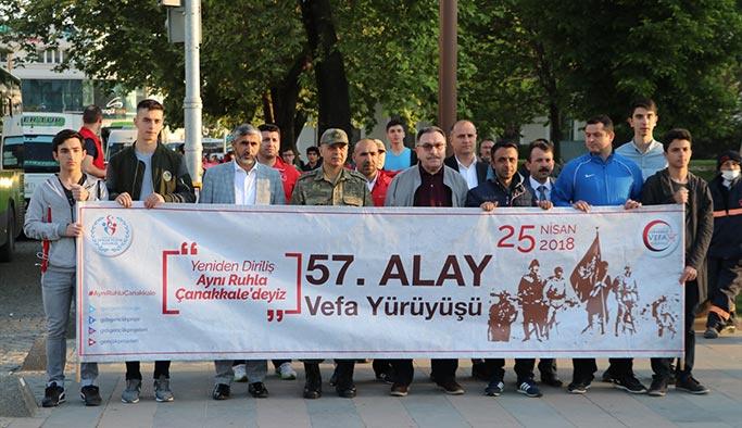 57. Alay'a saygı yürüyüşü başladı