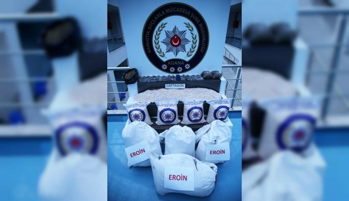Adana'da 114 kilo eroin ele geçirildi