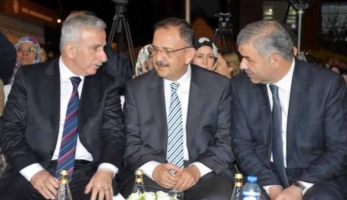 Bakan Özhaseki Kayseri'de