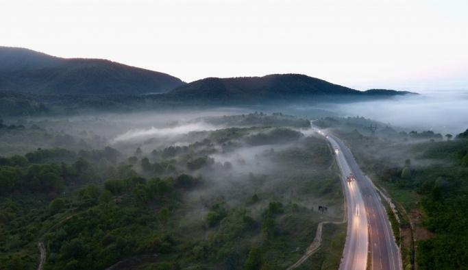 Batı Karadeniz'de sis altında yolculuk