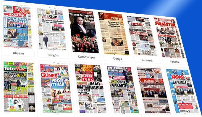 Bugünkü gazete manşetleri 23 Nisan 2018