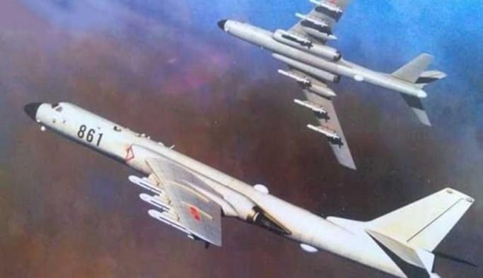 Çin'in nükleer bombardıman uçakları Tayvan semalarında