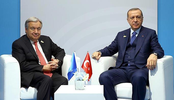 Erdoğan BM Genel Sekreteri Guterres ile görüştü