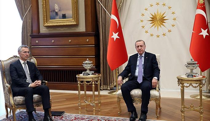 Erdoğan Merkel ve Stoltenberg ile görüştü