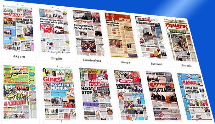 Gazete manşetleri 24 Nisan 2018
