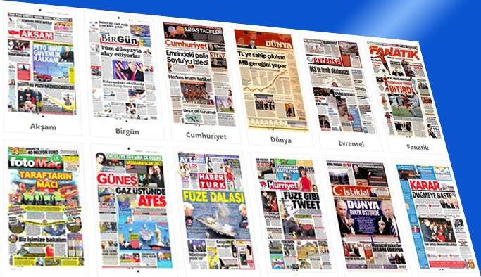 Gazetelerin bugünkü manşetleri 12 Nisan 2018