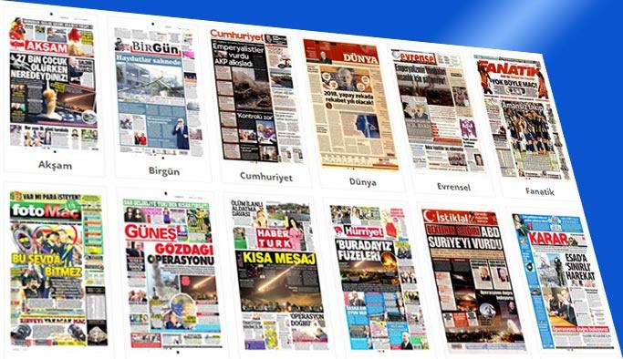 Gazetelerin bugünkü manşetleri 15 Nisan 2018