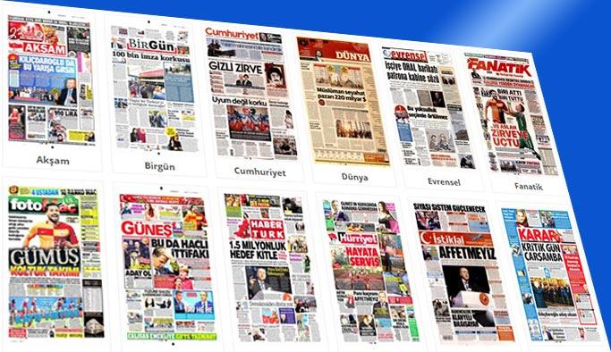 Gazete Manşetleri - 22 Nisan 2018 Pazar