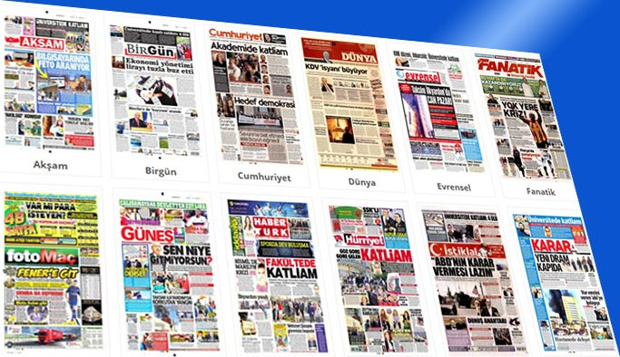 Gazetelerin bugünkü manşetleri 6 Nisan 2018