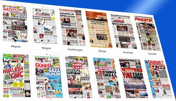 Gazetelerin bugünkü manşetleri 9 Nisan 2018