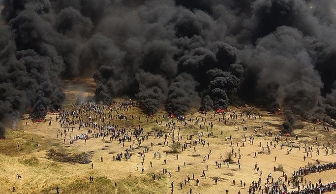 Gazze sınırında dumanlar yükseliyor, şehit sayısı 30'a çıktı