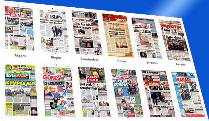 Günün gazete manşetleri (21 Nisan 2018)