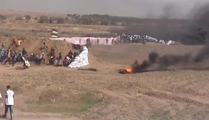 İsrail, sağlık çadırına saldırdı