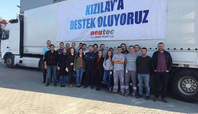 Neutec Group'tan Kızılay'a 2,6 milyon liralık ilaç
