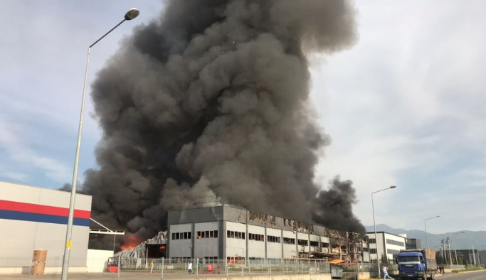 Sakarya'da fabrika yangını
