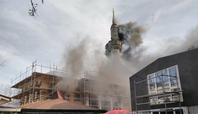 Teşvikiye Camii'nde yangın