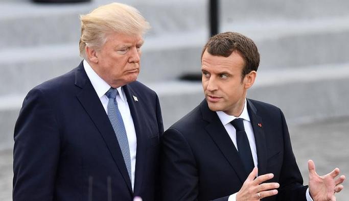 Trump, Macron ile Suriye'yi görüştü