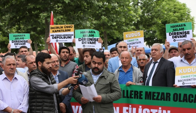 Başkentte İsrail ve ABD protestosu