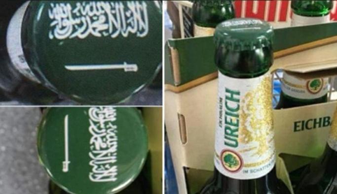 """Bira şişesine """"La İlahe İllallah"""" yazdılar!"""