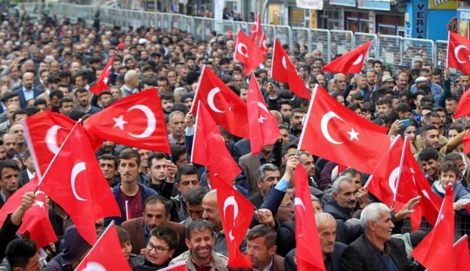 CHP'nin Cumhurbaşkanı adayı İnce'nin Hakkari mitingi: