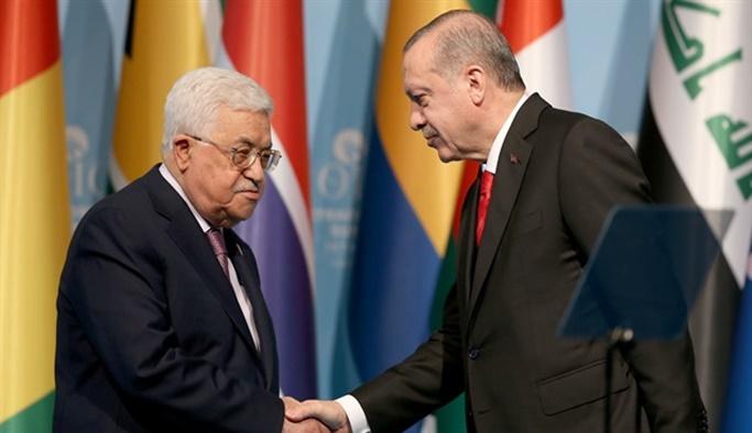 Cumhurbaşkanı Erdoğan ve Mahmud Abbas Kudüs'ü görüştü