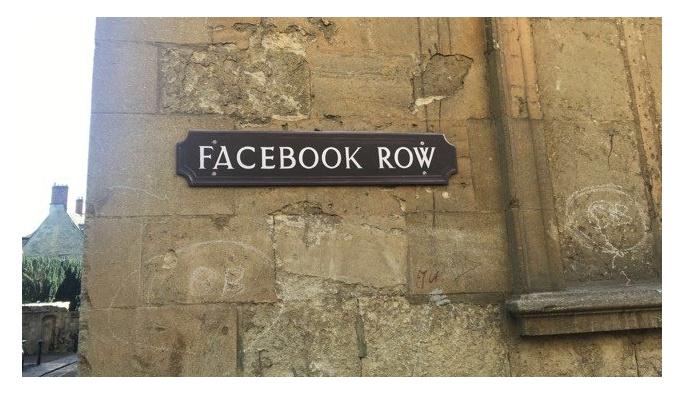 Facebook, Snapchat, Twitter sokak ismi olduğu