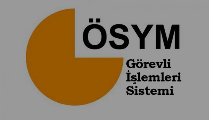 ÖSYM GİS: ÖSYM Görevli İşlemleri Sistemi - Sisteme Giriş