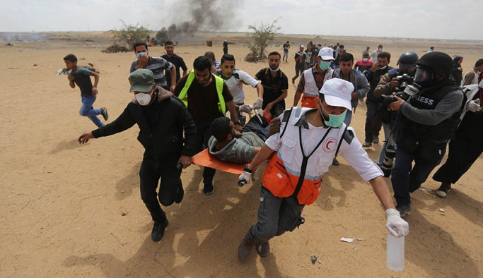 Son dakika İsrail 55 Filistinliyi şehit etti