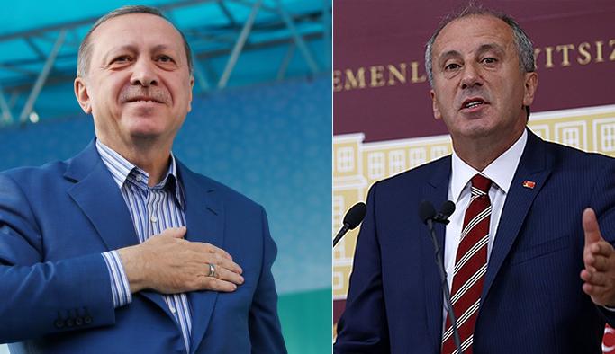 Son seçim anketi; Muharrem İnce ve Erdoğan'ın oy oranları ne?