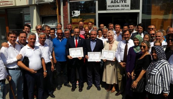 AK Parti Tekirdağ milletvekilleri mazbatalarını aldı