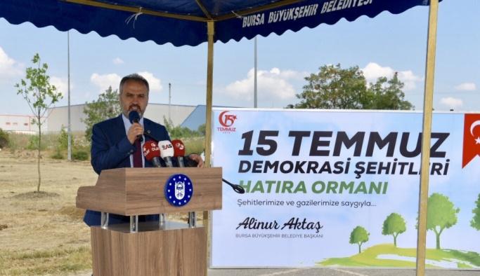 Bursa'da demokrasi şehitleri anısına hatıra ormanı