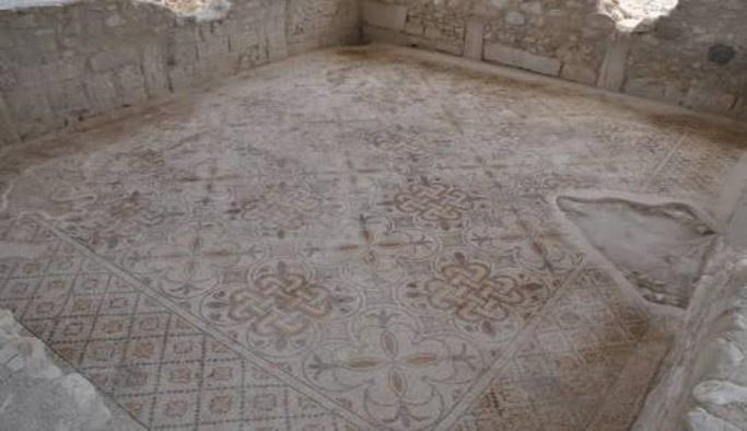 Denizli'de 2 bin yıllık 'mozaikli villa' bulundu
