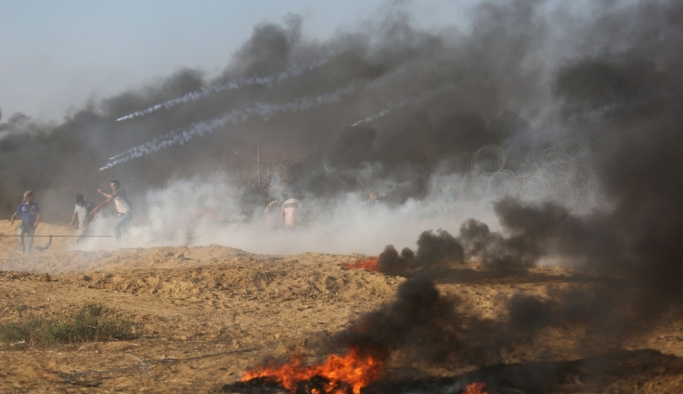 Gazze'deki Büyük Dönüş Yürüyüşü gösterilerinde 16. cuma
