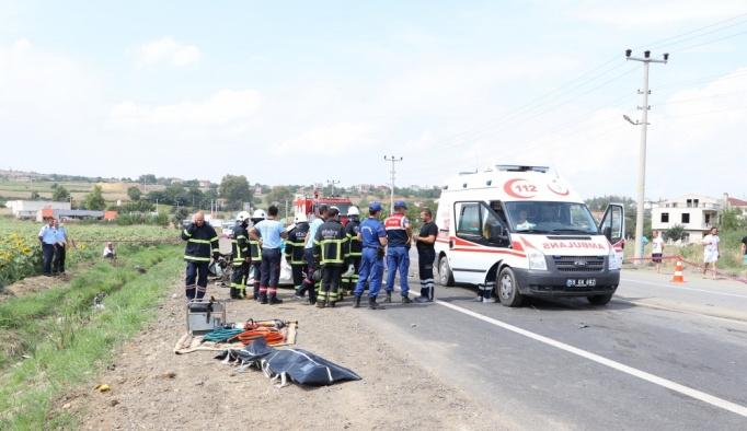 Tekirdağ'da vidanjör kazası: 3 ölü