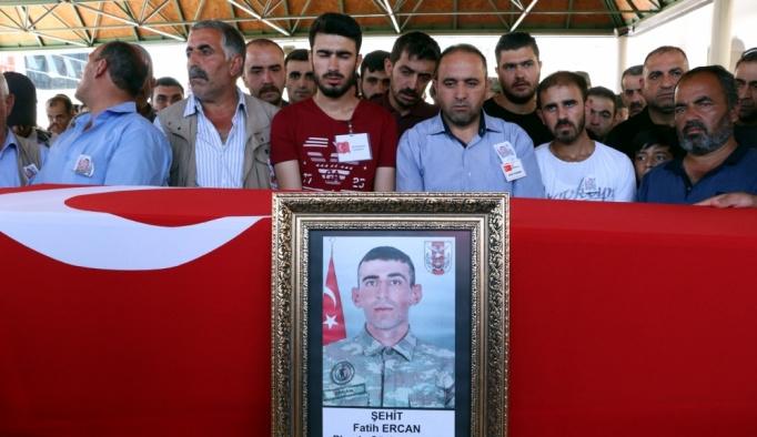 Şehit er Fatih Ercan son yolculuğuna uğurlandı