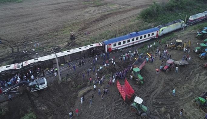 Tekirdağ'da tren kazası: 24 ölü 73 yaralı