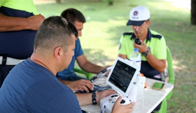 Adana'da kural ihlaline drone tespitli ceza