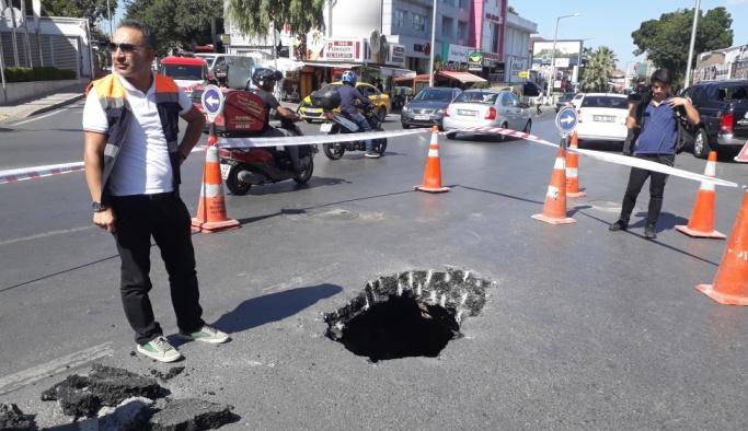 Beşiktaş'ta yolda çökme