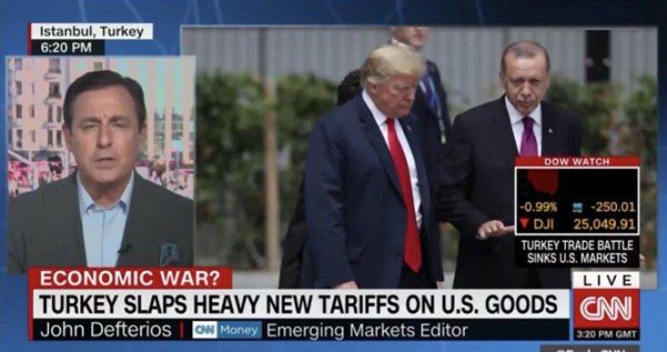 CNN: Ticari savaş ABD borsalarını batırdı