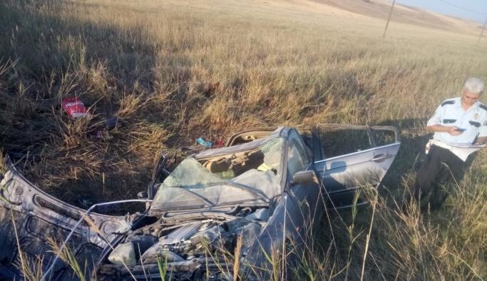 Çorum'da otomobil devrildi: 2 ölü, 6 yaralı