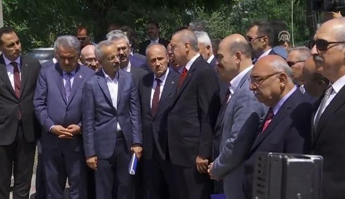 Erdoğan Ordu'da incelemelerde bulundu